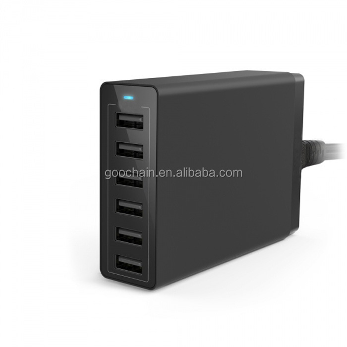 2016 anker 6-port usb home travel multiple usb wall charger for mobile and tablets