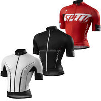 Custom Cycling Jersey Bicycle Cycling Top with Breathable and Quick Dry Material
