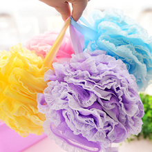 Promotional Cheap Colorful Sponge Balls /Soft Mesh Bath Sponge / Body Wash Scrubber