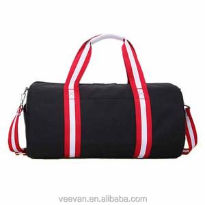 eae141d07172 Rolling up long shoulder strap personalized black vintage gym bag for men