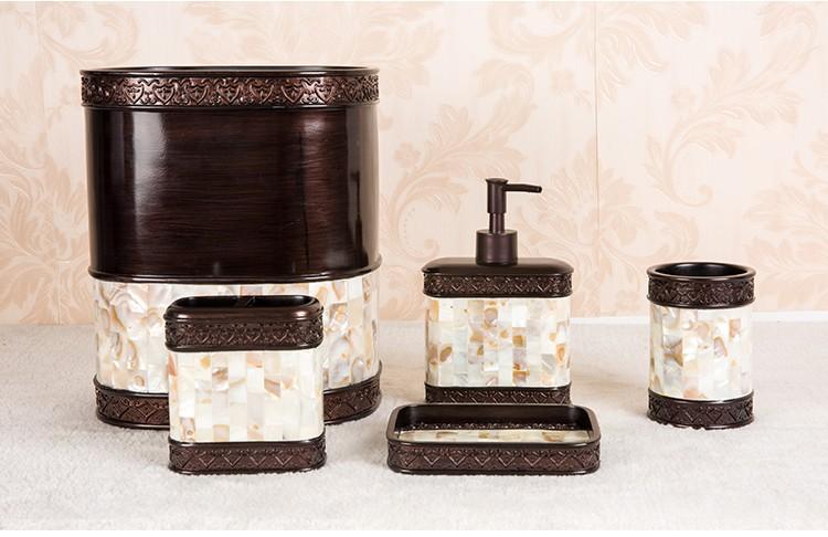Polyresin hand painting shell ceramic bathroom accessories sets dubai style buy bathroom - Bathroom accessories dubai ...