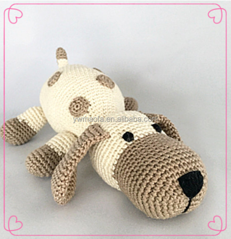 Manufacture of Baby Handmade Knitted Animal Pattern Stuffed Toys Crochet Dog Gift Toy