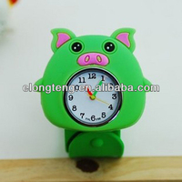 Cute mini pig silicone Watch for kids