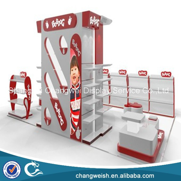 Supermarket display furniture , children garments shop display design , 3D picture for clothing