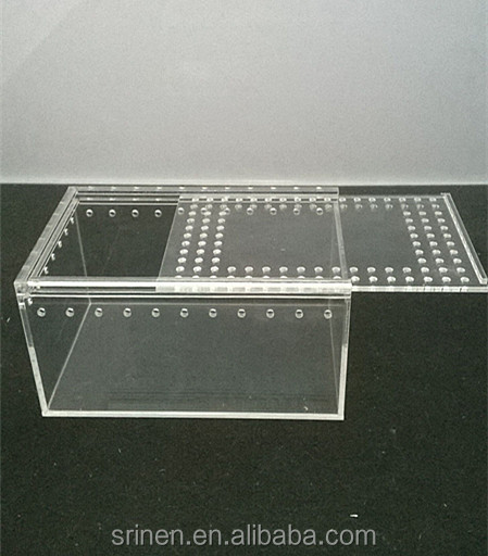 Slip Open Door Clear Acrylic Terrarium Cages Wholesale