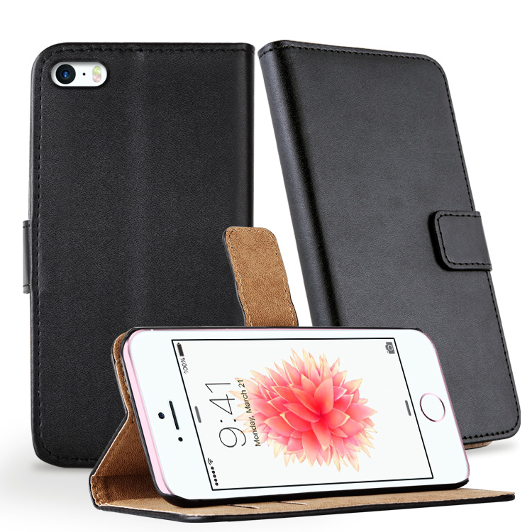 Hot Selling Many Color Available Wallet Flip Leather Mobile Phone Case For Apple iPhone 5 5S