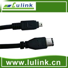 High quality firewire 1394 cable, 9 to 4 pin/ 6 to 6 pin /9 to 6pin cable