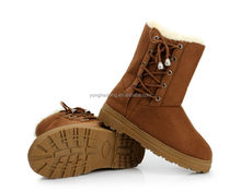 Lovely fashion lace up winter boots