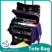 Big storage purple color craft hobby trolley for scrapbooking organizer