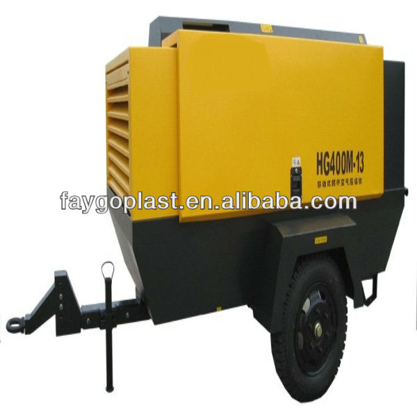CE ISO Portable diesel screw air compressor