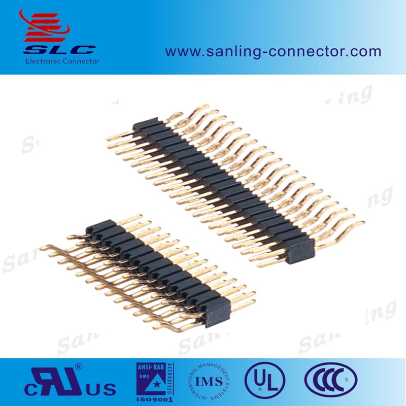 2.54 Pitch 90 degrees SMT 10 pin Header Connector