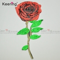 Popular Large Red Rose shape Reversible Sequin Embroidery applique Patches WEFB-596