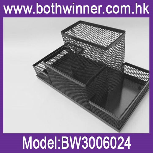 Metal mesh squareness pen holder desk organizer ,h0tyq multifunction pen holder for sale
