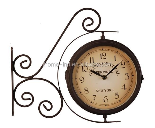 Clock esterno giardino uccello suono antico orologio for Orologio da stazione