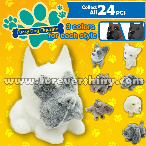 Bulk Wholesale Animal Plastic Gashapon Gift Egg Toy Figure Collectible Doggie Puppy Fuzzy PVC Dog Figurine with Capsule