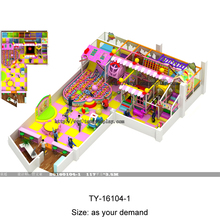commercial toddler indoor playground sets with foam mats