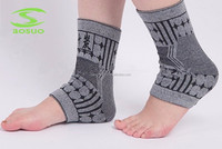 grey colored elastic knitting bamboo ankle support