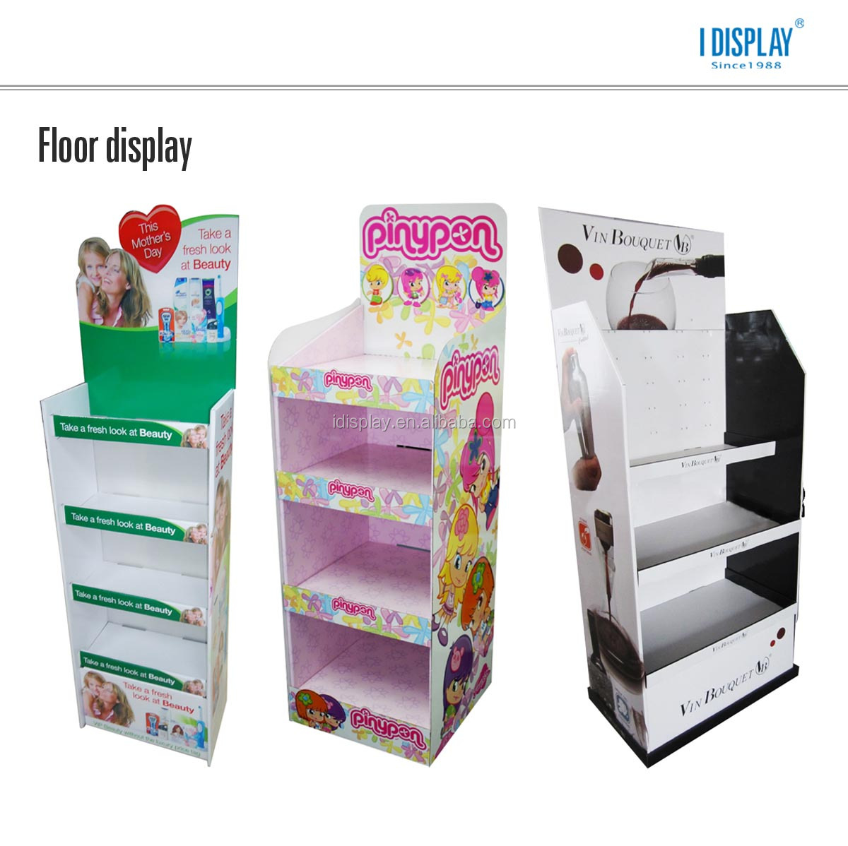 POP free standing cardboard cosmetic display racks for lipstick