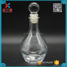 clear reed diffuser glass container 200ml aroma round glass diffuser bottle