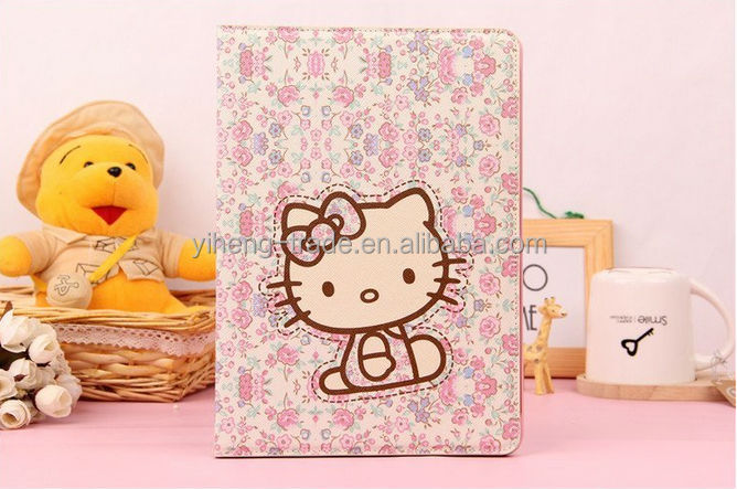 For apple ipad air Cute cat Stand Magnetic PU Leather Case for iPad Air 5 Smart Cover