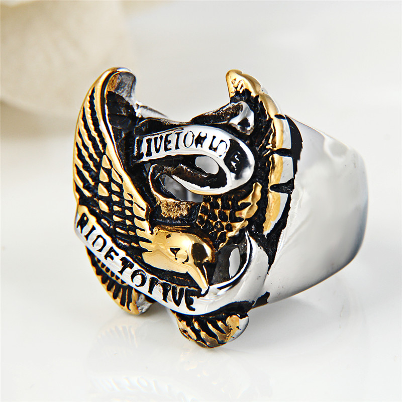 Daihe Punk wholesale biker stainless steel ring