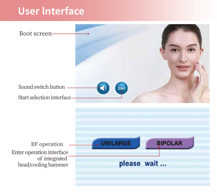 Factory price skin whitening rf skin vacuum face machine