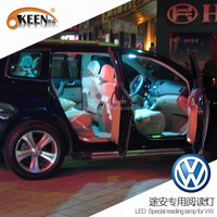 Superbright 12V 5050 led auto interior roof dome light for VW Touran car led reading lamp