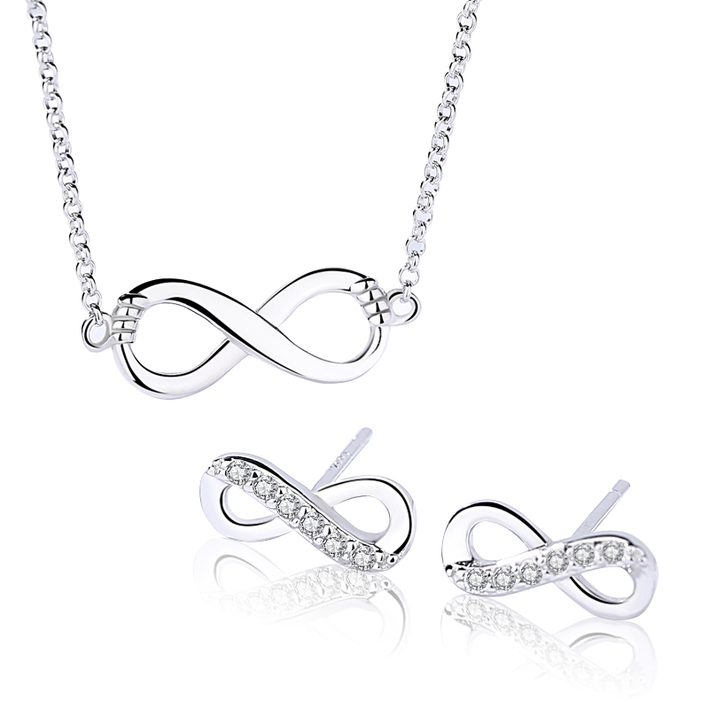 925 Sterling Silver Personalized Infinity <strong>Jewelry</strong>