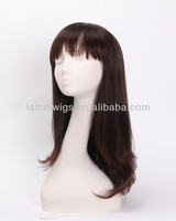 2014 fashion synthetic fiber wig japan long brown synthetic wigs wholesales from factory SK 2015
