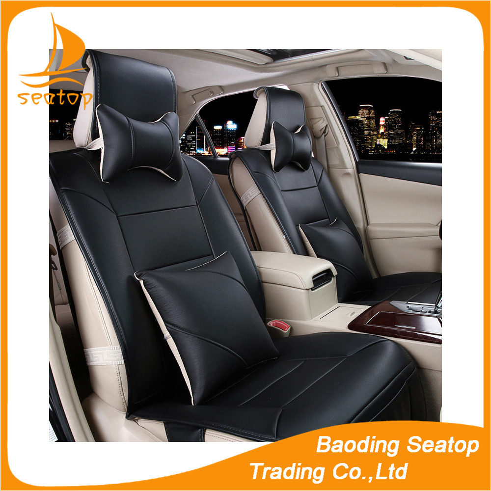 Leather car seat cover leather