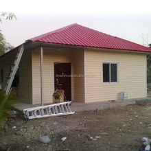 prefabricated homes/pvc house/light steel structure prefab home price
