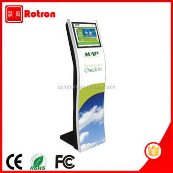 High quality 17 inch touch screen floor standing check in kiosk