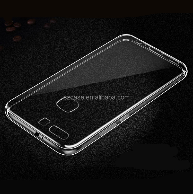 1.0mm High Clear transparent tpu mobile phone back cover case for huawei p10 plus