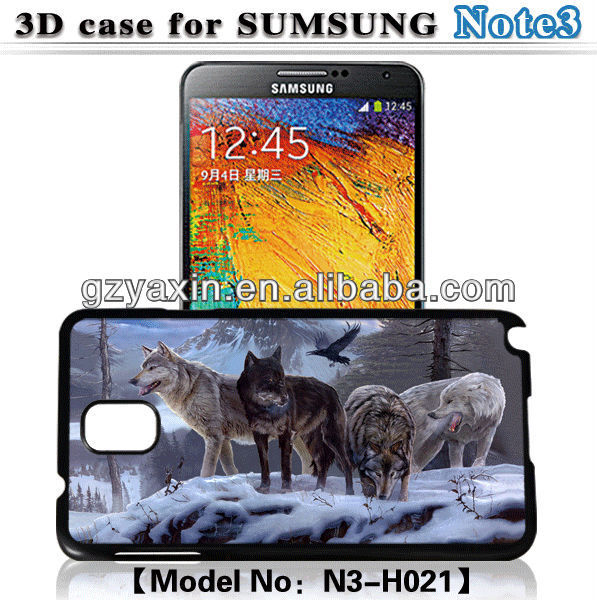 For samsung galaxy note 3 n9000,3D case for samsung note3 n9000