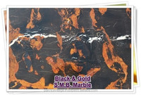 Quarry Mine - Black and Gold Marble - Pakistan best Tiles