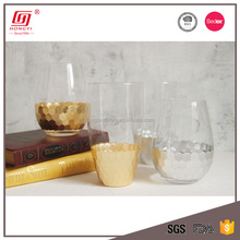Hongyi glassware lead free colored crystal glass drinking tumbler