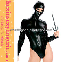 Wholesale lady cheap black latex pvc catsuits
