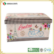 China Vintage Style Eco-friendly Storage Bench