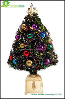 Christmas tree lights LED artificial christmas tree and decorative christmas tree with star Pine cones ball