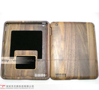 high quality wood case for iPad with logo engraving services,2013 hot selling wallet case for ipad from china manufacturer