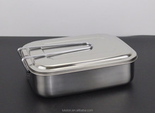 Three Section Design Perfect for Healthy Snacks or Finger Foods On the Go - Eco-Friend Stainless Steel Food Container