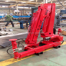 factory sale 1ton hydraulic lifting knuckle boom crane mounted truck
