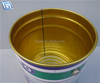18L Tinplate barrel with handle and lock ring lid for latex paint, coating,gasolines or other chemical products