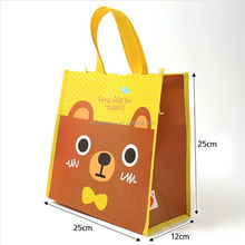 China wholesale low price custom PP laminated cartoon non woven bag for promotion