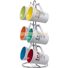 11oz ceramic mug with rack coffee mug sets with stand
