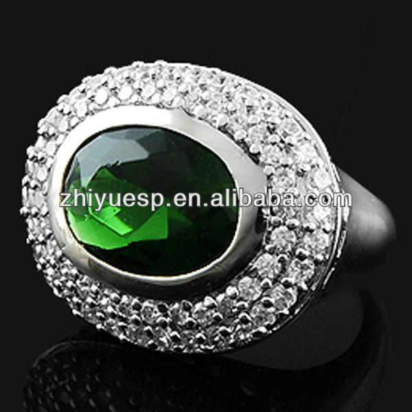 green cz emerald ring jewelry for men