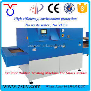 No VOC highly efficiency UV excimer rubber surface treating machine for shoes manufacturer