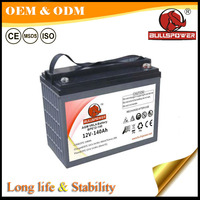12v120ah 140ah dry charged battery for electric tricycle