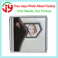 latest design white and champagne leather photo albums 12inch