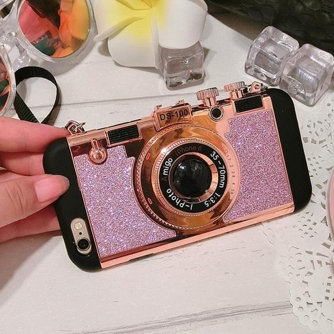 China wholesale Supplier Camera glitter Mobile Phone cases Silicone Cover Case For iphone5s 6s 6sPlus creative case